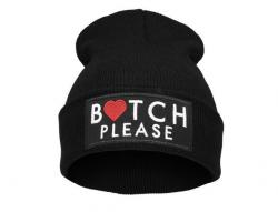 Čepice Beanie - BITCH PLEASE - Black B686
