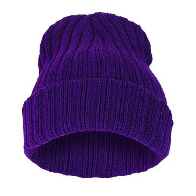 Čepice Beanie STRIPED BLANK Purple