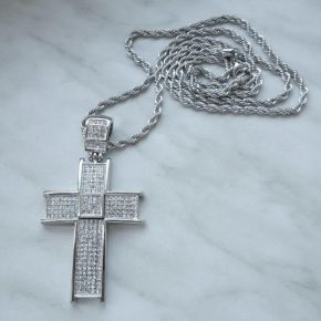 A697 Přívěsek BIG CROSS Diamond Silver Exclusive - Kříž