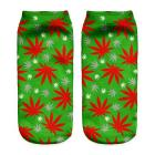 Ponožky WEED Green/red - 1114