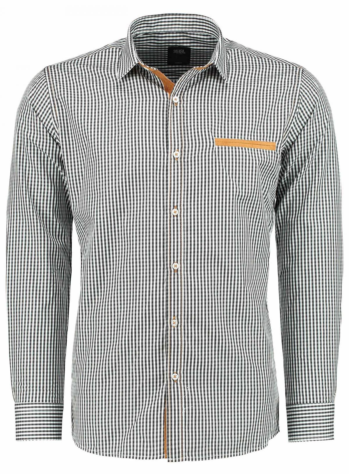 Pánská Košile Checkered - Kostkovaná černá bílá - 1418 - slim ... 95fd62c857