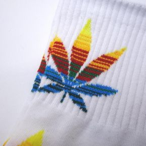 Ponožky WEED white/multi mid Marihuana - 1711