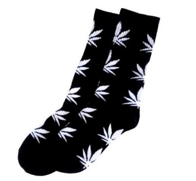 Ponožky WEED black/white - High Marihuana - 1085
