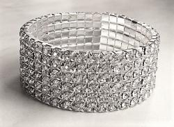 Náramek Bling Diamond Billionaire - 6 Rows - B1132