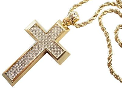 A1206 Přívěsek BIG CROSS Diamond GOLD - Kříž