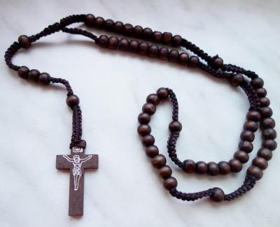 Dřevěný Růženec - CROSS PRAYER Brown 1 - 1388