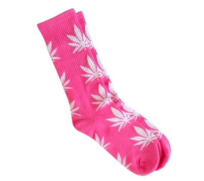 Ponožky WEED Hot pink/white - High Marihuana - 1449