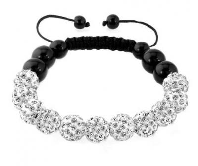Náramek Shamballa Luxury - White clear - B1666