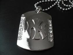 Hip Hop Přívěsek Big Dog Tag Diamond A277