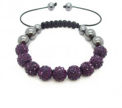 Náramek Shamballa Luxury - Purple - B334
