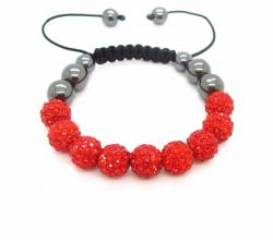 Náramek Shamballa Luxury - Red - B339