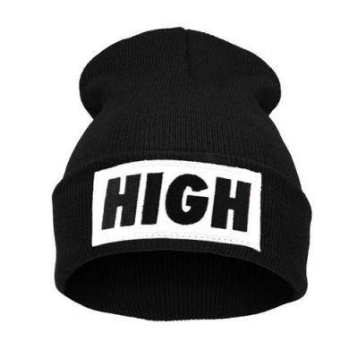 Čepice Beanie - HIGH - black/white