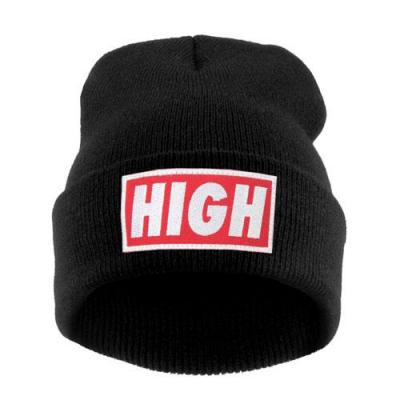 Čepice Beanie - HIGH - black/red/white