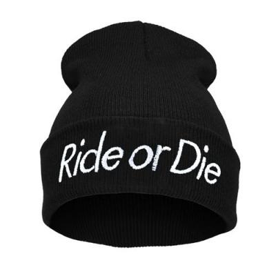 Čepice Beanie - RIDE OR DIE - Black B582