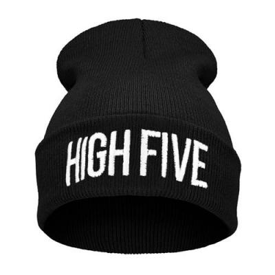 Čepice Beanie - HIGH FIVE - black/white B597