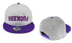 SNAPBACK Kšiltovka FUCKERS - Grey/Purple - S611