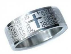 Prsten CROSS PRAYER z Nerez oceli - R696