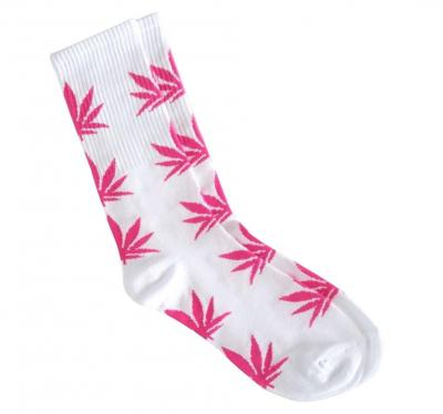 Ponožky WEED white/hot pink - High Marihuana