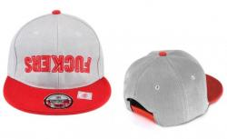 SNAPBACK Kšiltovka FUCKERS - Grey/red - S827