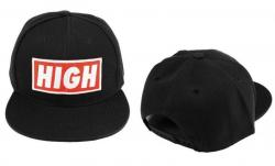 SNAPBACK Kšiltovka HIGH - Black - S830