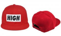SNAPBACK Kšiltovka HIGH - Red - S834