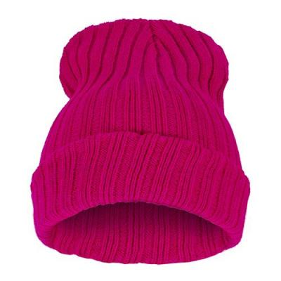 Čepice Beanie STRIPED BLANK Hot Pink