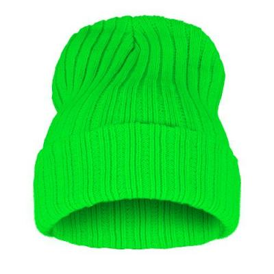 Čepice Beanie STRIPED BLANK Neon Green
