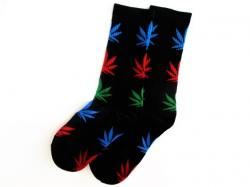 Ponožky WEED black/multicolor - High Marihuana