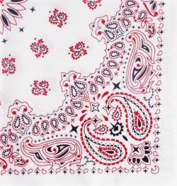 Bandana šátek - White/Red/Black - 55 cm - B927