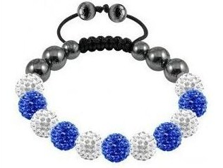 Náramek Shamballa Luxury - White/Blue - B469