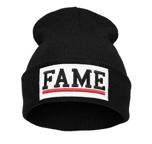 Čepice Beanie - FAME - Panel black/white B587