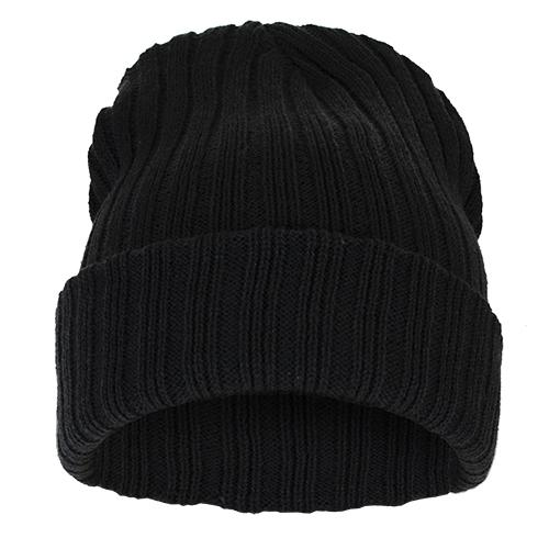Čepice Beanie STRIPED BLANK Black