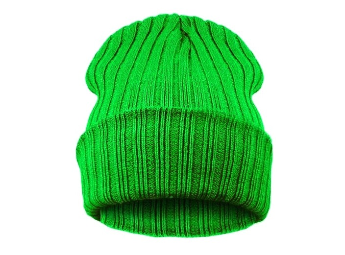 Čepice Beanie STRIPED BLANK Grass Green