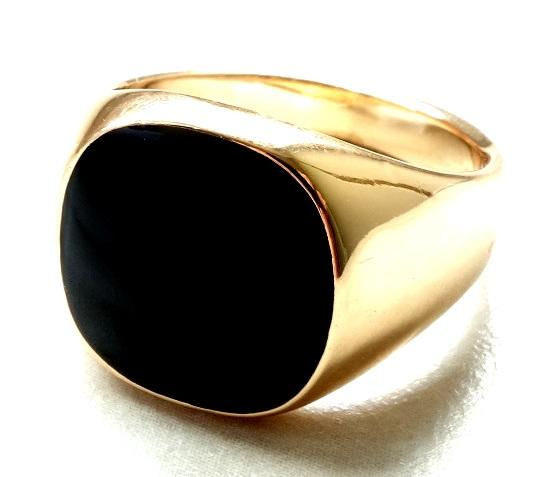 Prsten CUBAN Gold/Black - R956